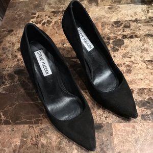 Black Suede Daisie Pointed Toe Stiletto Pumps